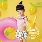 女童圓點泳衣泳裙二件式現貨台灣製造美國杜邦萊卡【36-66-G-8H20801-21】ibella 艾貝拉