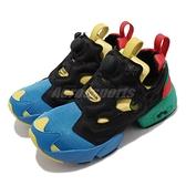 Reebok 休閒鞋 Insta Pump Fury OG MU Olympics 黑 彩色 男鞋 女鞋 復古 經典配色 運動鞋 【ACS】 FZ2065