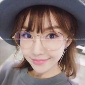 現貨-韓國ulzzang原宿復古文藝風格金屬平光鏡框 圓形細框眼鏡框 學院風圓框 近視 配度數造型眼