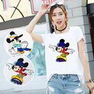 BOBO小中大尺碼【6702】卡通鼠直排輪短袖T恤 共2色