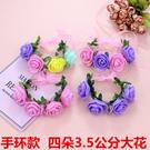 韓國飾品復古流蘇花藤玫瑰花朵花環髮帶新娘...