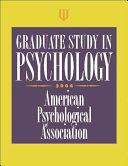 二手書博民逛書店《Graduate Study in Psychology 20