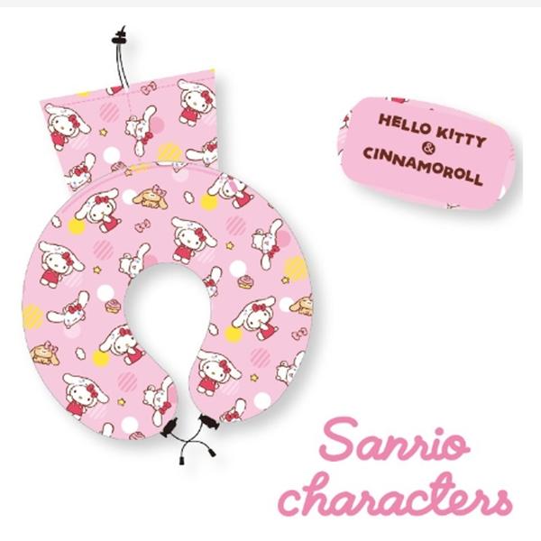 sanrio character 三麗鷗 收納式 U型枕 (布丁狗/大耳狗2款可選)◎花町愛漂亮◎JL