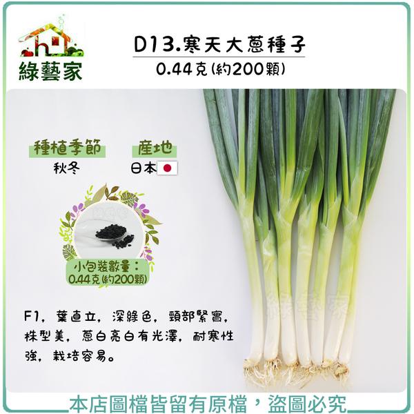 【綠藝家】D13.寒天大蔥種子0.44克(約200顆)