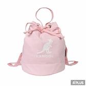 KANGOL 包 兩用尼龍水桶手提包 側背包 粉 袋鼠包 - 6025301841