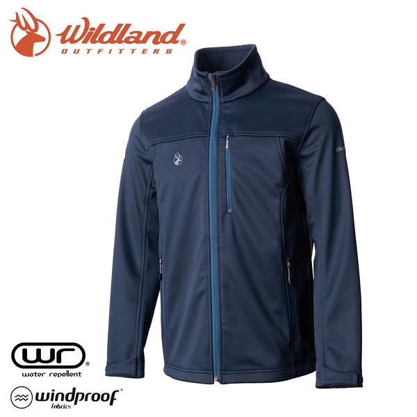 【Wildland 荒野 男 三層貼防風保暖功能外套《深藍》】0A72908/夾克/運動外套/抗風透氣