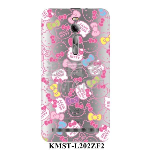 Hello Kitty 授權卡通ASUS ZenFone2-DIY 夜光快速包膜  第2代
