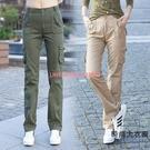 工裝褲女夏季多口袋寬鬆顯瘦百搭直筒軍褲休閒長褲薄款【時尚大衣櫥】