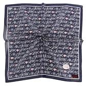 CLATHAS 滿版字母印花純綿帕領巾(海軍藍)989265-18