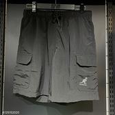 KANGOL 男款 運動短褲 黑色 6125152020 【KAORACER】