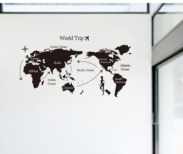 時尚壁貼 - 世界地圖