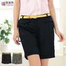 短褲--今夏最新流行荷葉邊造型褲頭百慕達...