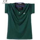 新款加肥加中大尺碼潮男士胖子純棉運動寬鬆特大短袖T恤肥佬夏裝