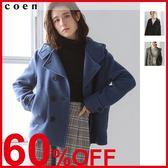 出清 連帽外套 雙排釦大衣 混紡羊毛 現貨 免運費 日本品牌【coen】
