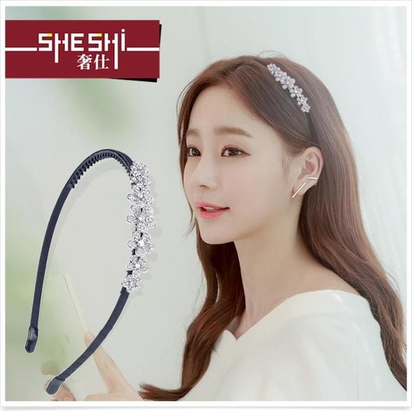 髮帶 髮箍髮帶髮飾品簡約韓國洗臉頭箍水鑽髮夾髮卡劉海夾卡子頭飾 特賣