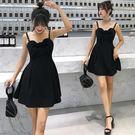 實拍2018夏季新款V領露背性感連身裙中長裙GD3F-326-B朵維思