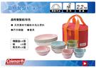   MyRack   Coleman CM-26766 晶格環保竹纖維餐碗組-彩色 四人份餐盤組杯盤組(含碗、盤子、杯子)