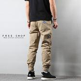 [現貨]潮流新設計潮牌同款超輕薄多口袋工作縮口褲 六個口袋 黑 卡其 深藍 有大尺碼【QZZZ7175】