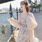 防曬衣 配裙子防曬衫冰絲夏季寬鬆外搭透氣披肩開衫小個子防曬衣薄外套女-Ballet朵朵