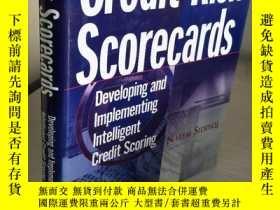 二手書博民逛書店Credit罕見Risk Scorecards:Developing and Implementing Intel