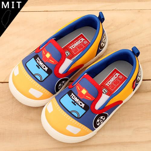 男童 TOMICA 多美 彩色拼接汽車造型 MIT製造 帆布鞋 休閒鞋 59鞋廊