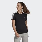 Adidas LOUNGEWEAR ESSENTIALS 女款黑色休閒短袖上衣-NO.GL0784