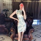 改良旗袍 時尚新式旗袍裙早秋2020新款年輕款氣質改良版開叉性感少女連衣裙