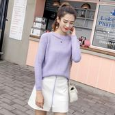 廠家批發價 不退換實拍9370現貨新款2018韓版慵懶風針織衫女上衣套頭長袖毛衣女(NE429B)