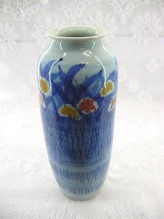 家居裝飾 景德鎮陶瓷器工藝品 藝術瓷 影青花瓶 A029