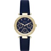 ELLE Marais 系列晶鑽日曆時尚女錶-藍x33mm ELL23003