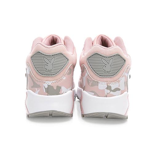 PLAYBOY 酷炫迷彩拼接氣墊運動鞋-粉