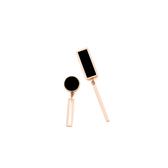 耳環 鏤空 幾何 長方形 圓形 不對稱 甜美 氣質 耳釘 耳環 【DD1803065】 BOBI  3/26