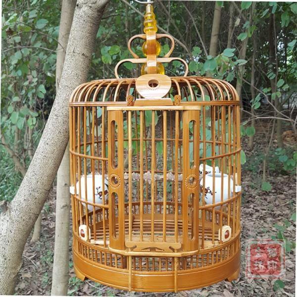 老竹料畫眉鳥籠 八哥鳥籠鷯哥籠子凱里籠四川籠 鏤空鳥籠配件 ☸mousika