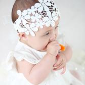 寬版蕾絲花朵圖案髮帶 兒童髮飾 髮帶