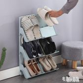 多層可疊加鞋架簡易塑料家用鞋托宿舍門口鞋子收納架分層整理鞋櫃 DJ7058【宅男時代城】
