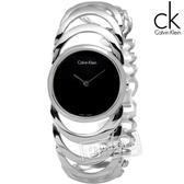 CK / K4G23121 / BODY 鍊戀時空 經典手鍊式不鏽鋼腕錶 黑色  30mm