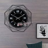 掛鐘 時尚創意北歐掛鐘客廳現代簡約鐘表藝術時鐘個性掛表家用大氣裝飾 數碼人生