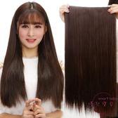特厚假髪片假髪女生接髮片一片式長髪馬尾仿真髮無痕接髮片加厚假髪長髪髮片快速造型髮片