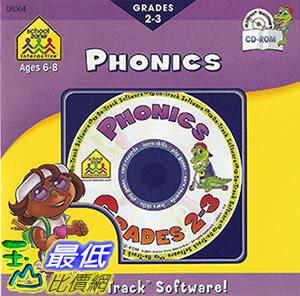 [106美國暢銷兒童軟體] School Zone On-Track Software Phonics Grades 2-3
