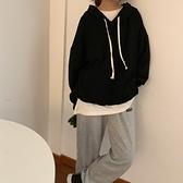 (下殺)韓版百搭套頭連帽素面顯瘦寬鬆衛衣大學T大學T外套女【08SG04575】