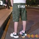 童裝男童短褲中大童薄款七分褲工裝褲兒童寬松潮【淘嘟嘟】