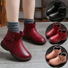 女童靴子單靴冬季2019新款兒童馬丁靴小女孩英倫公主短靴保暖皮靴