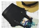 韓國時尚新款簡約復古水桶包手提迷你小包包女休閒單肩斜挎包潮