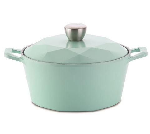 NEOFLAM CARAT系列陶瓷不沾湯鍋24cm-Tiffany藍+合金蓋