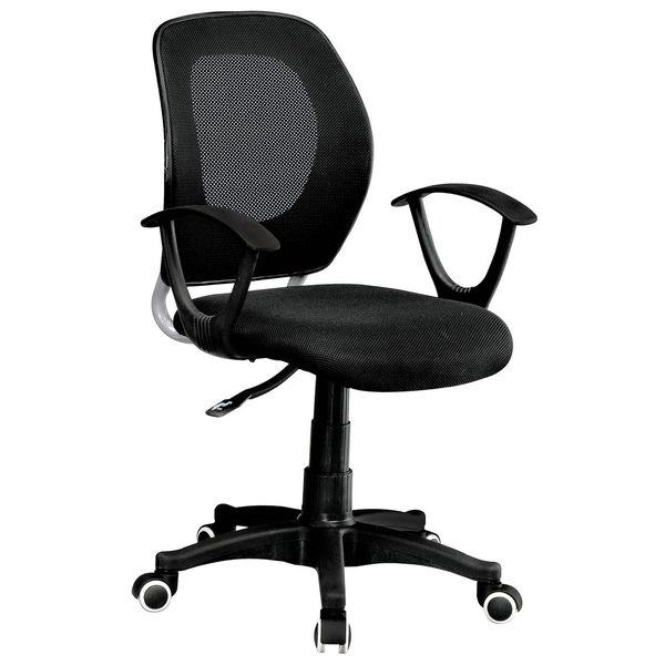【森可家居】黑網電腦辦公椅 8SB275-1 OA