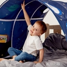 遊戲帳棚 兒童床上帳篷分床神器隧道女孩男孩游戲屋床篷公主床幔游戲過家家