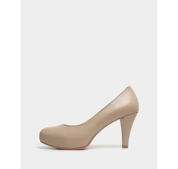 真皮高跟鞋-R&BB MIT手工羊皮製*素雅質感靜音內增高舒壓氣墊-杏(原皮款賣場)