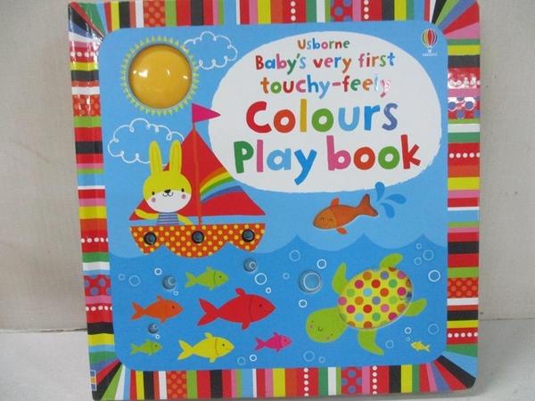 【書寶二手書T5/少年童書_BQQ】Baby's Very First Touchy-Feely Colours Play Book_Fiona Watt,Stella Baggott