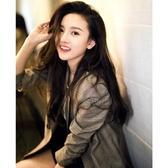 2019春夏新款韓版女裝修身顯瘦休閒西服格子商務小西裝外套  潮流衣館