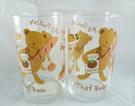 【震撼精品百貨】日本泰迪熊_Chef Bear ~ 玻璃對杯『抱麵包』